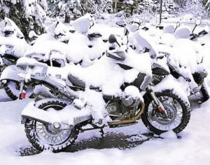 Snowy-bike