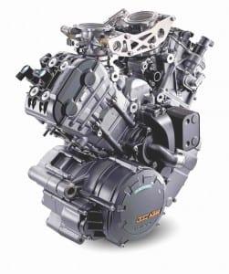The 1301cc lump is new for the Super Duke R, producing 4bhp more than a 2014 Honda Fireblade.