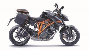 A small luggage system, available from KTM, is a nod towards the practical side of the bike.