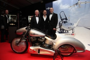 John Shaw, Bruno Bellamich & Steven Willis with the B-Rocket