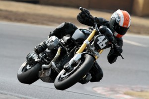 Shiro Nakajima on track at the Tsukuba Circuit near Shimotsuma