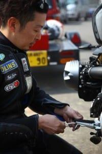 Shiro Nakajima removes the hero blobs on the nineT for some track action