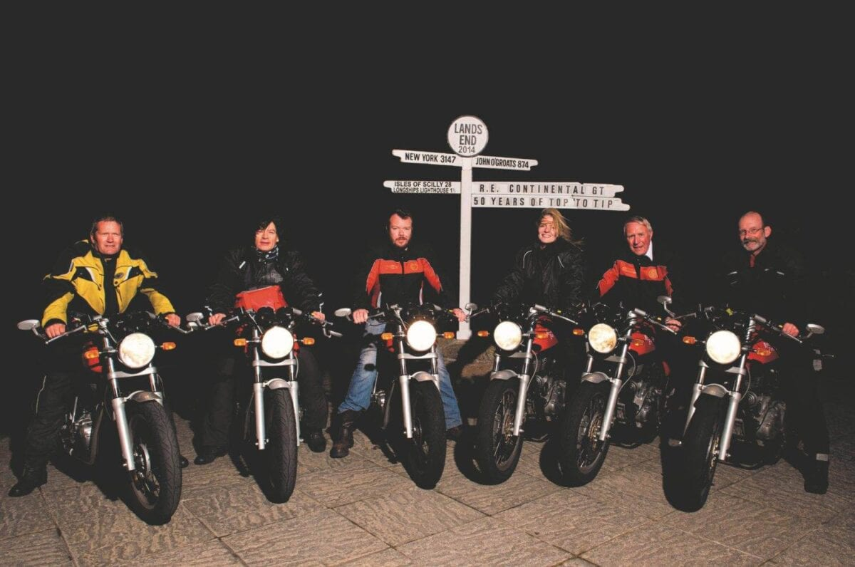 The riders at Lands End