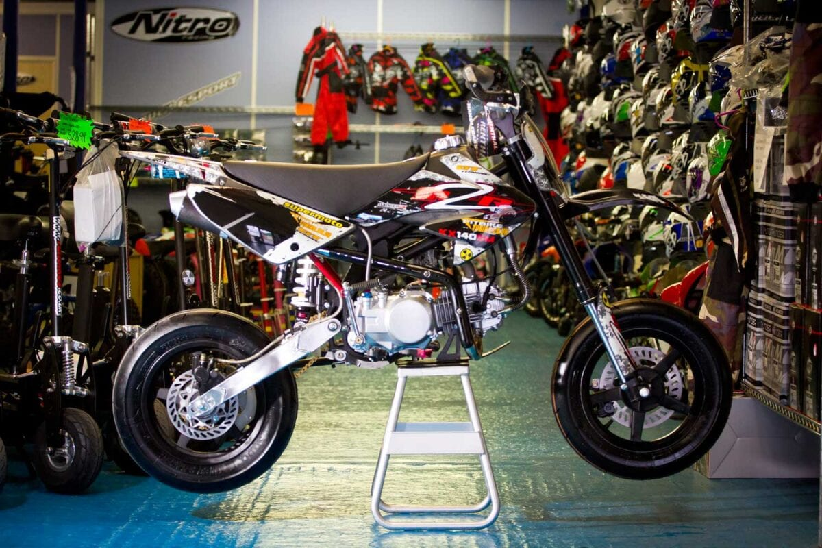Editor John's own M2R KX124SM supermoto race bike