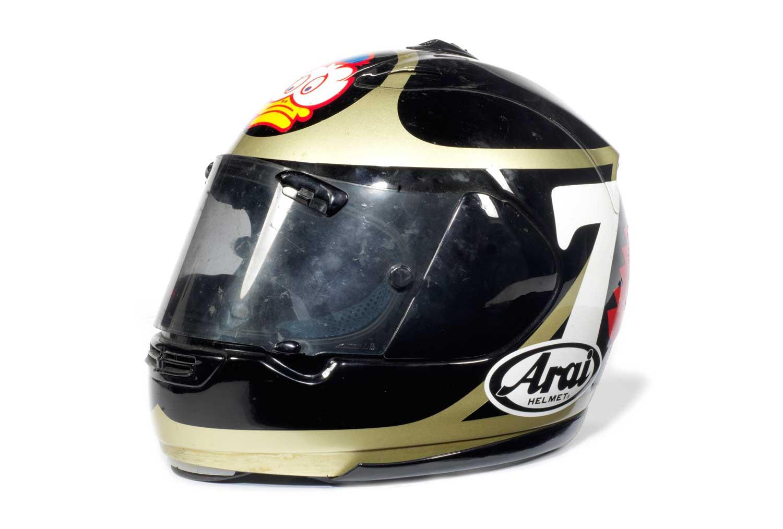 A-Barry-Sheene-race-worn-helmet-by-Arai,-late-1990s---2