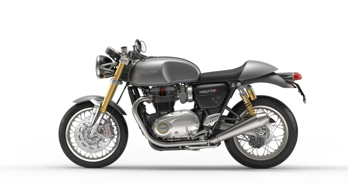 Thruxton R Silver Ice Leftlores