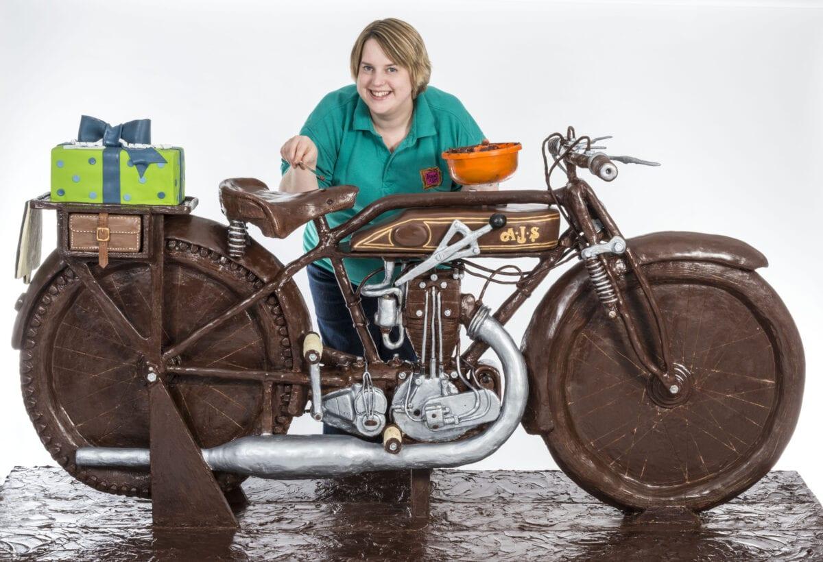 Prudence Staite working on Motorbake