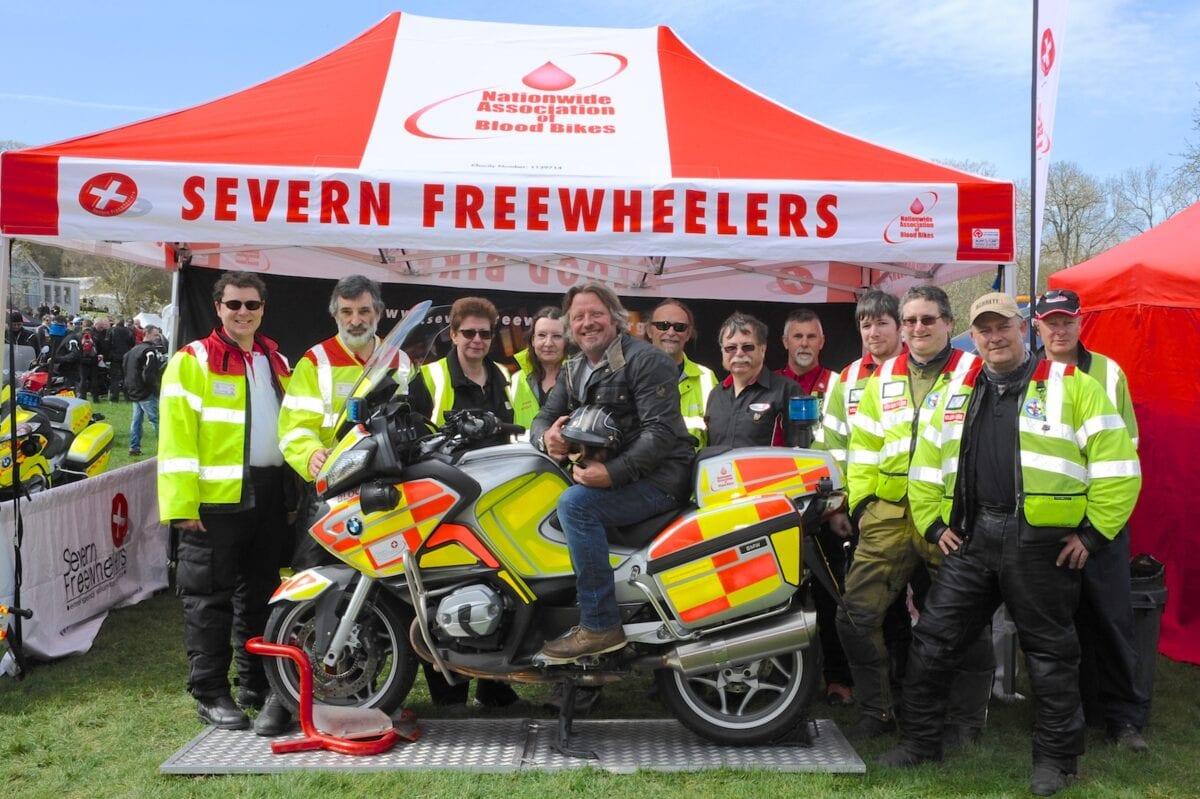 Charley Boorman with Blood Bikers - credit Geoff Robinson