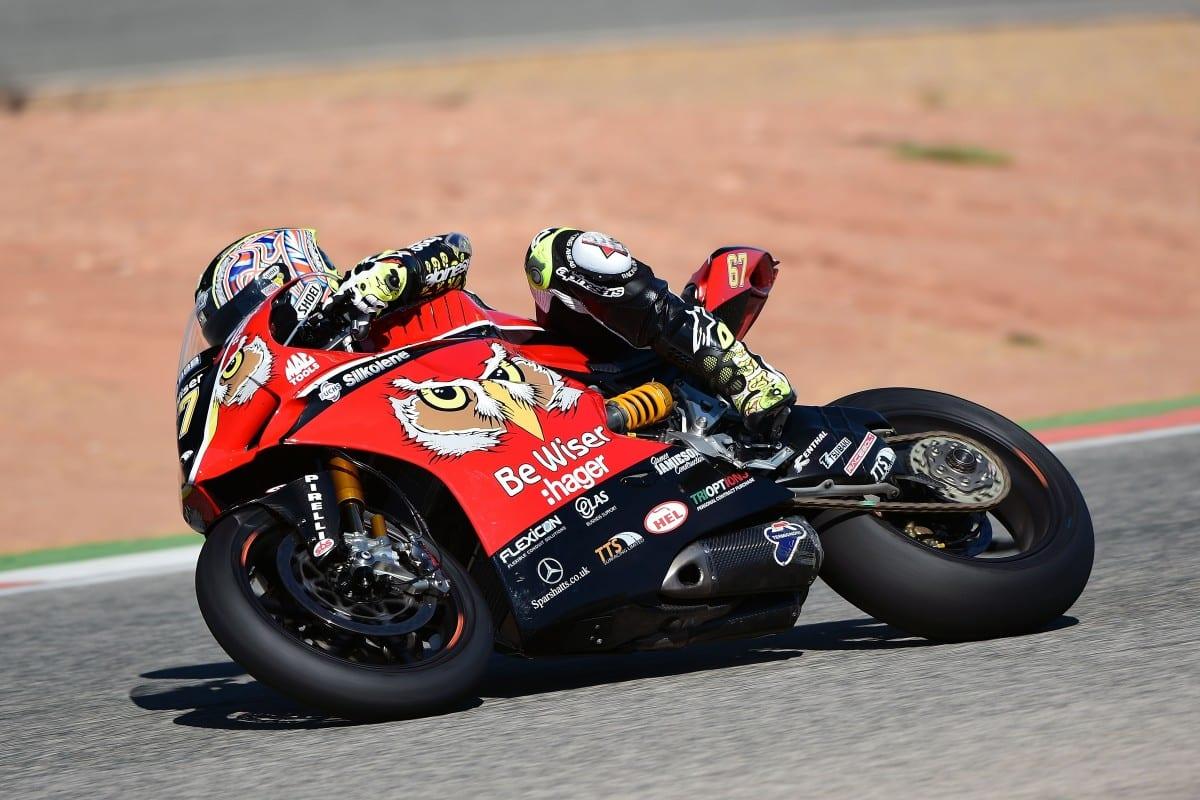 Shane Byrne testing in Spain
