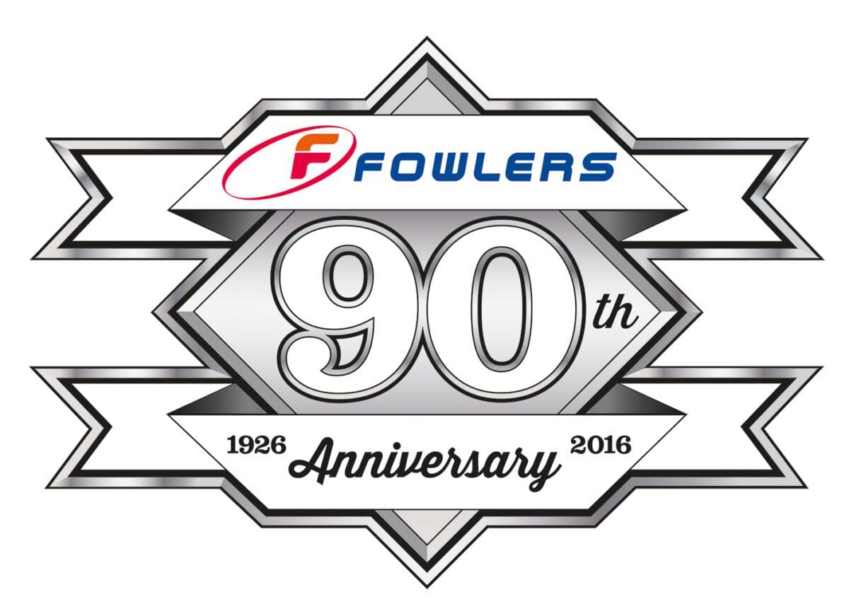 Fowlers 90th Logo