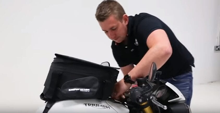 Fixing luggage to Triumph Speed Triple 1050R