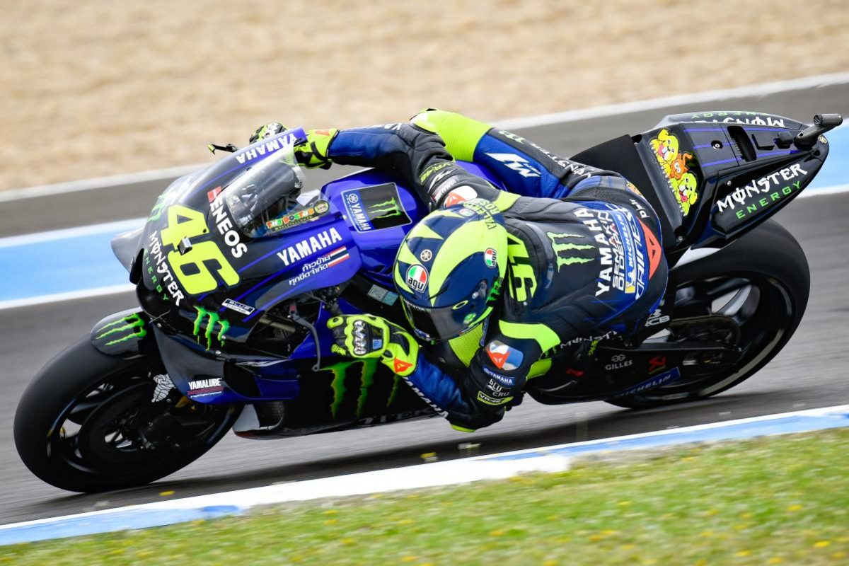 Bid big and you could end up riding at Misano with this fella, Valentino Rossi, who will spend serious time with you,  showing you how to do the whole thing a bit better. Blimey.