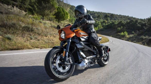 The Harley-Davidson LiveWire motorcycle. Charging issues have apparently been traced back to one, single bike.