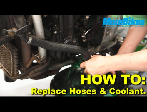 FETTLING FRIDAY: How to REPLACE your bike's HOSES and COOLANT. Episode SIX. MoreBikes NEW motorcycle maintenance VIDEO series.