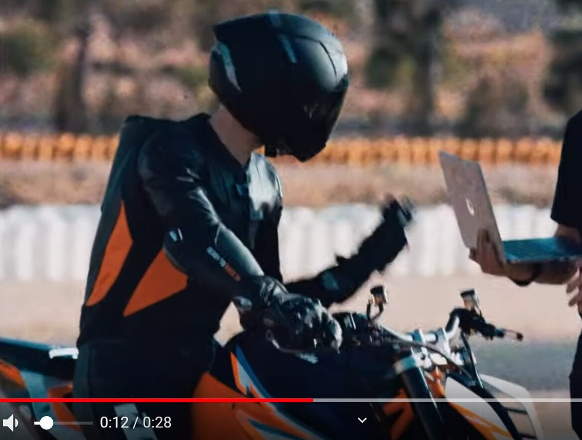 Bottom of this photo of the 2020 KTM Super Duke R, which was taken from the video teaser, you can see the massive front wings - and you can clearly see how far out from the front of the motorcycle they sit. Hewuge.
