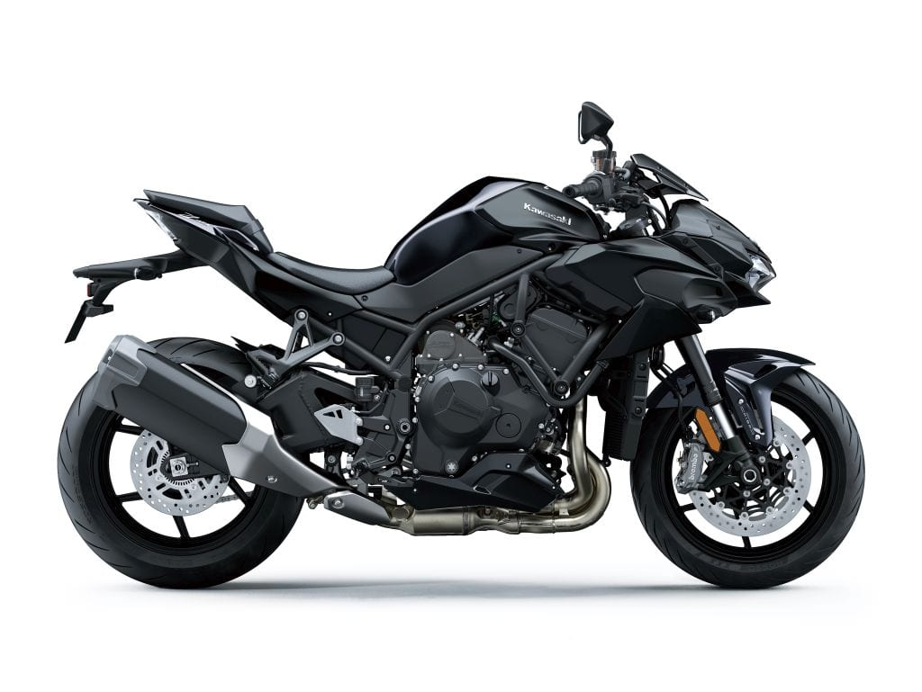 This is the black colour scheme for the Z H2 motorcycle.