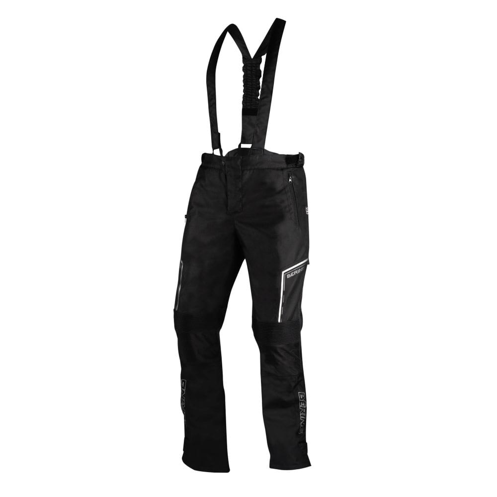 Front view of the Bering Dusty motorcycle winter trousers.