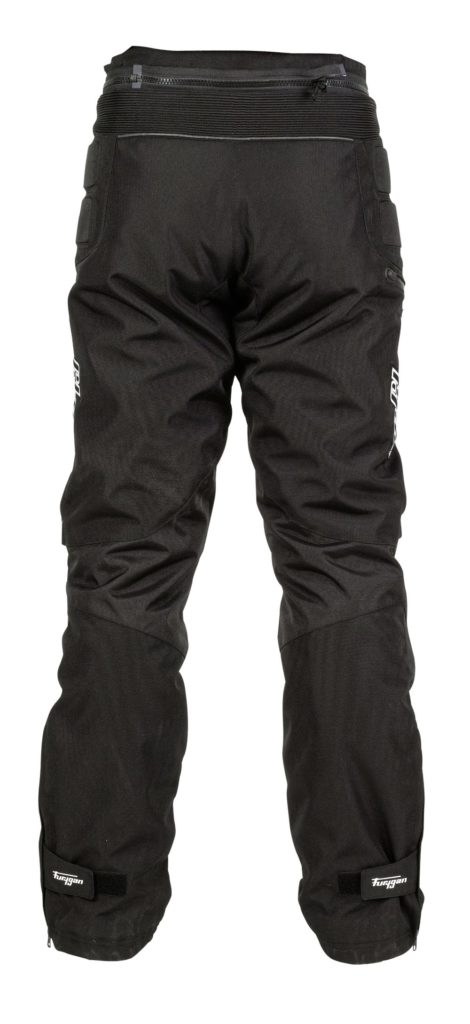 Rear view of the Furygan Duke TRS motorcycle winter trousers.