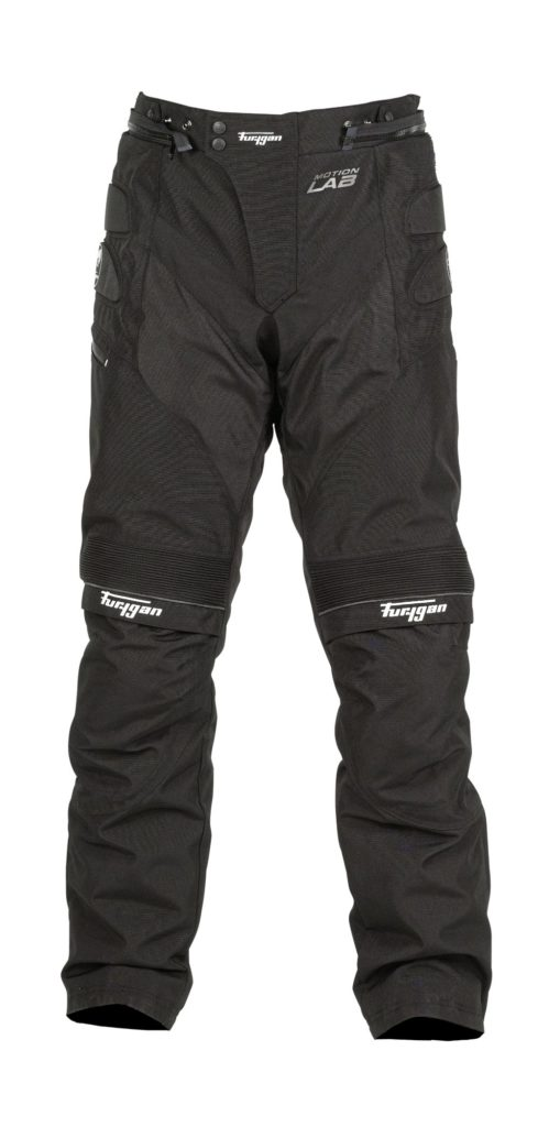 Front view of the Furygan Duke TRS motorcycle winter trousers.