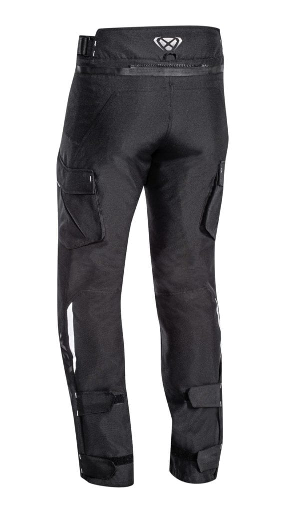 Rear view of the Ixon Sicilia motorcycle winter trousers.