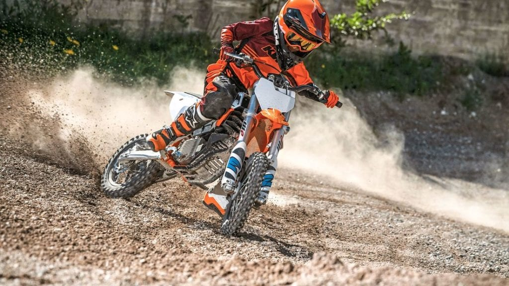 KTM's new small electric motocross bike, the  SX-E5, is at the forefront of small electric motorcycle competition for 2020