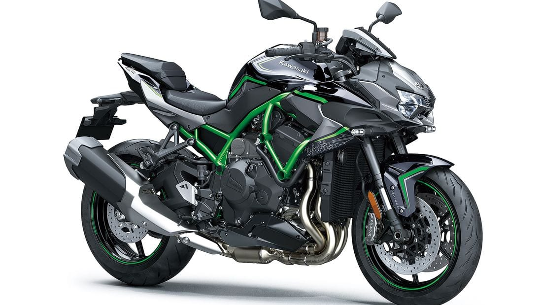 The 2020 Z H2 motorcycle from Kawasaki has been unveiled at the Tokyo Motor Show.