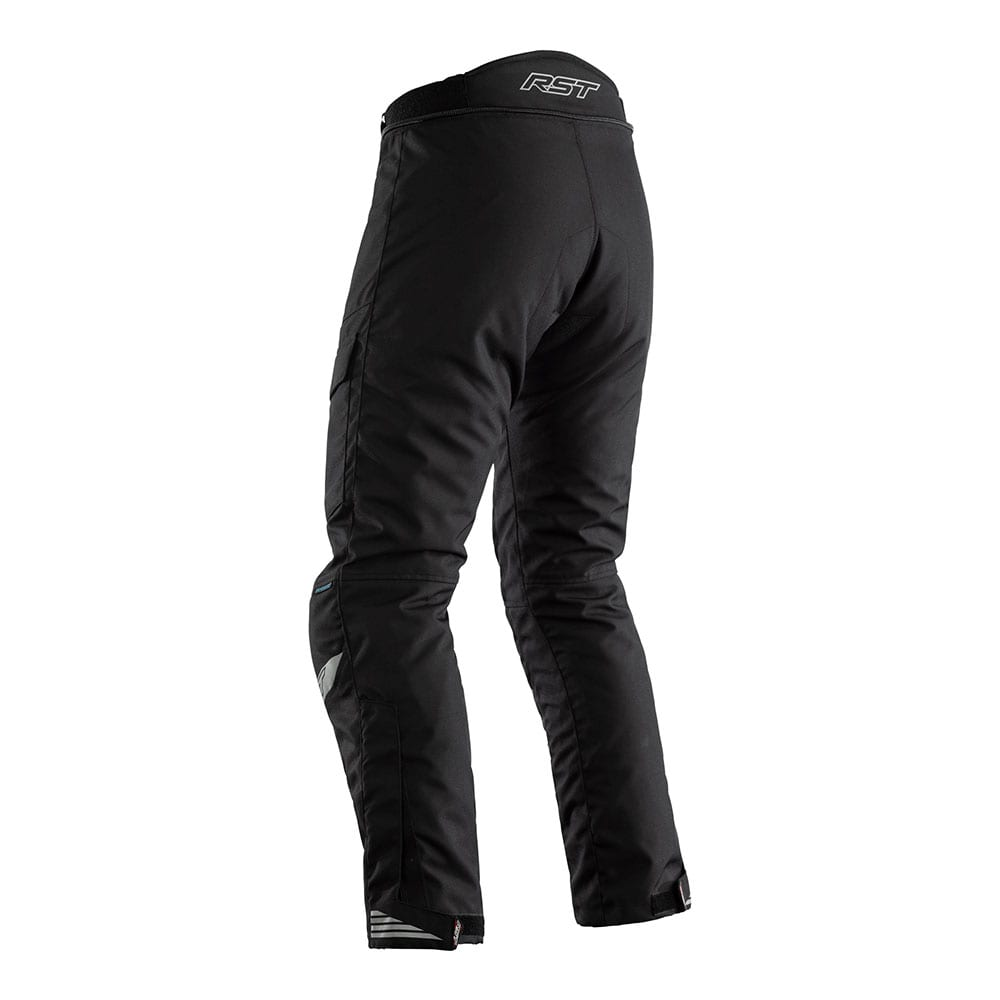 Rear view of RST Alpha motorcycle winter trouser.