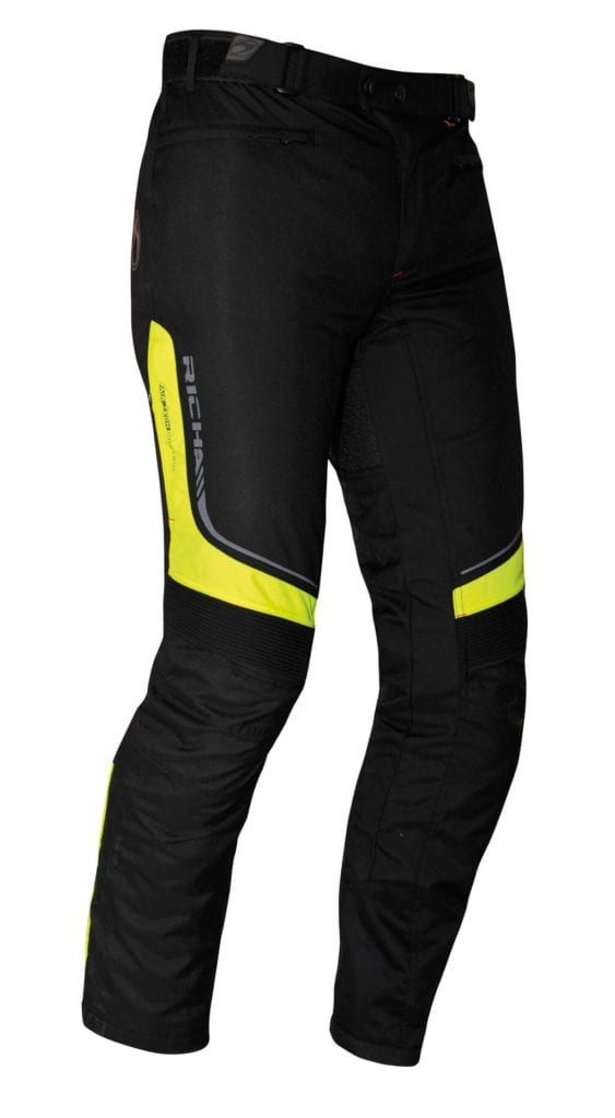 Rear view of the Richa Colorado motorcycle winter trousers.