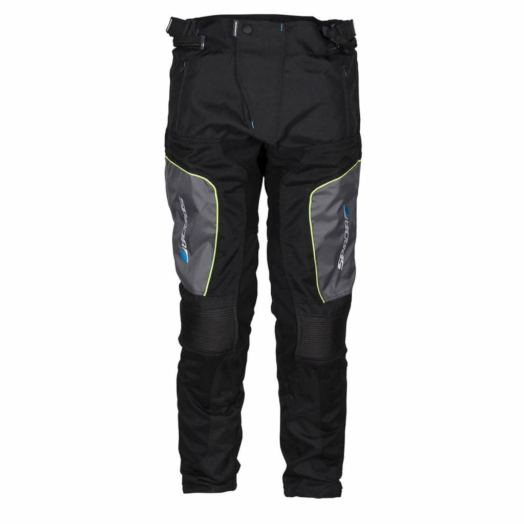 Front view of the Spada Turin motorcycle winter trousers.