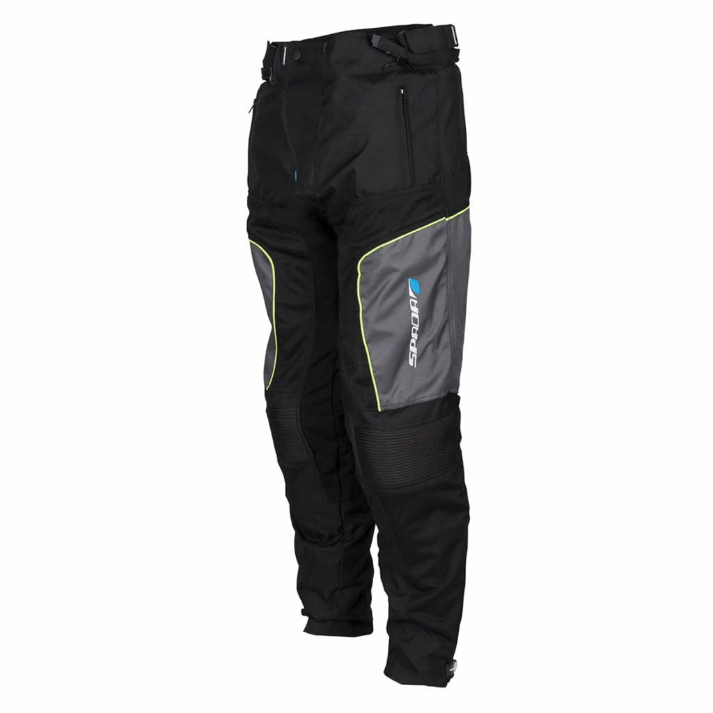 Rear view of the Spada Turin motorcycle winter trousers.