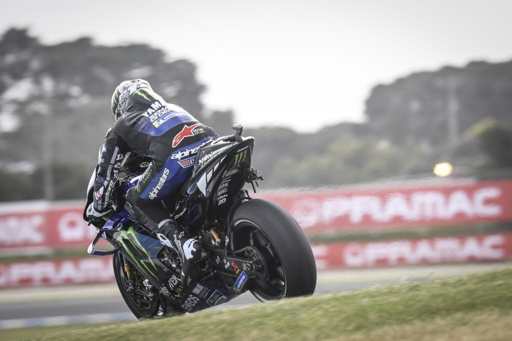 Maverick Vinales was fastest in Australian at the MotoGP motorcycle round, by nearly half a second!
