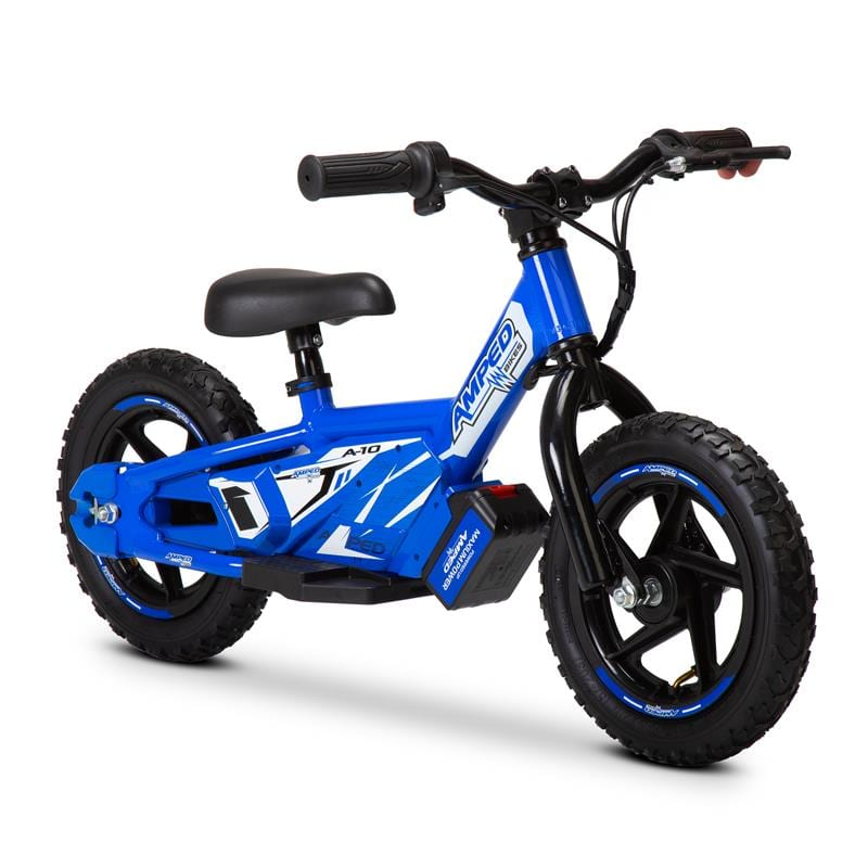 Amped A10 motorcycle. Balance bike. Battery powered child's motorbike