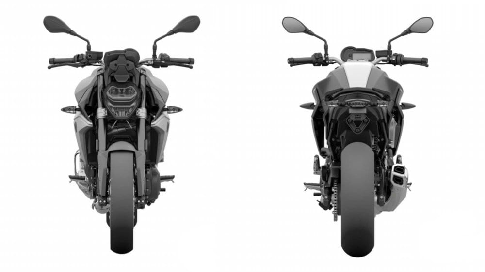 The new F 850 R motorbike looks very compact in the design drawings.