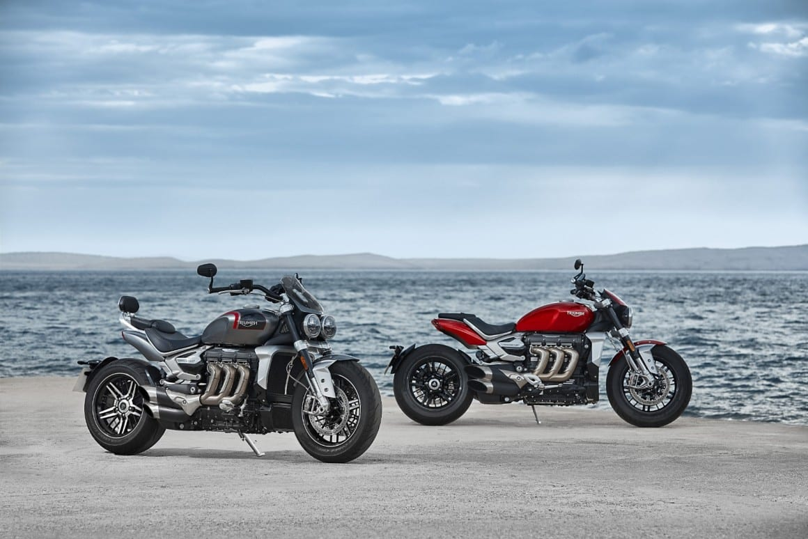 The 2020 Triumph Rocket 3 motorcycle gets 164cc bigger, makes 15bhp more and weighs 18kg less than the old model.