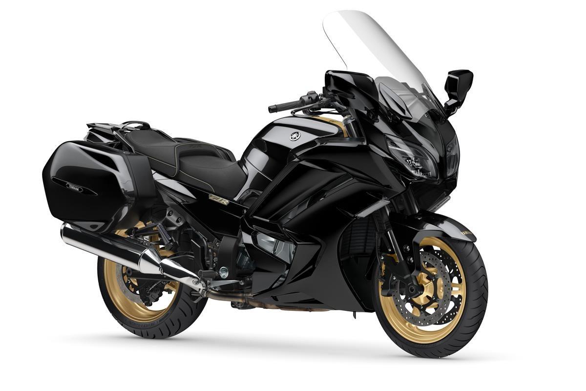 Studio shot of the 2020 model of Yamaha's FRJ1300 sport tourer motorcycle.