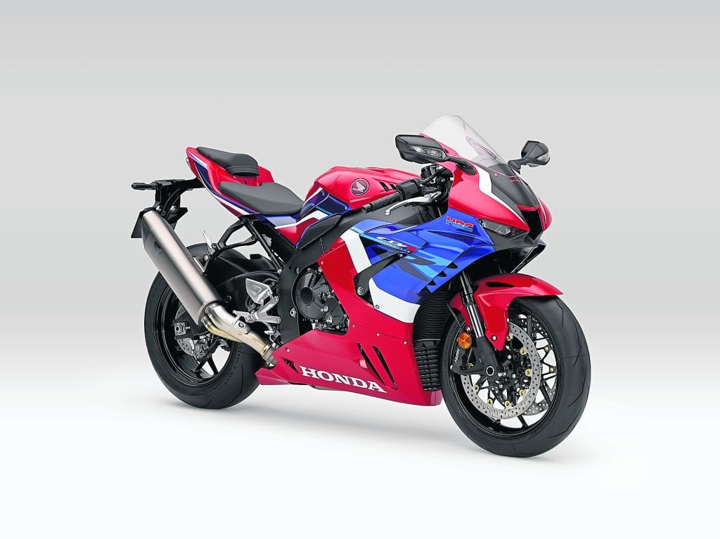 It's a meaty end can on the new Fireblade motorcycle.