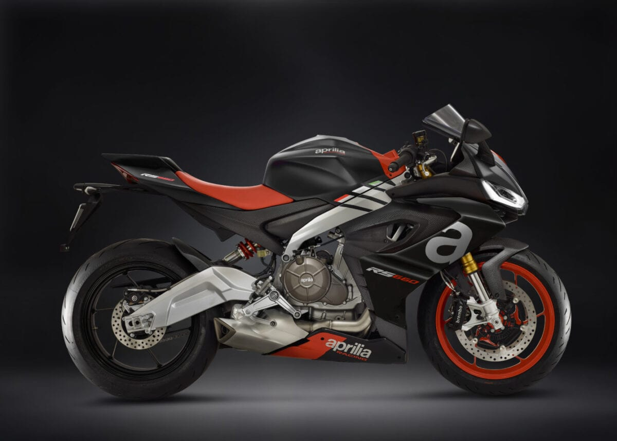 Aprilia's new mid-sized sportbike. The RS660.