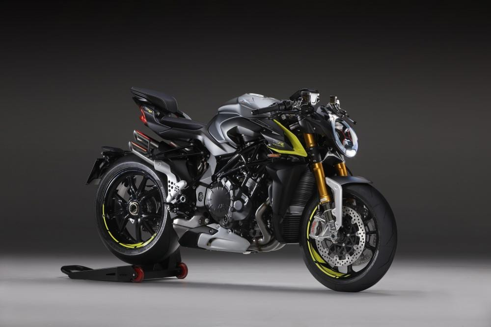 The Brutale 1000RR motorbike comes in two colours for 2020, red or silver/flouro yellow