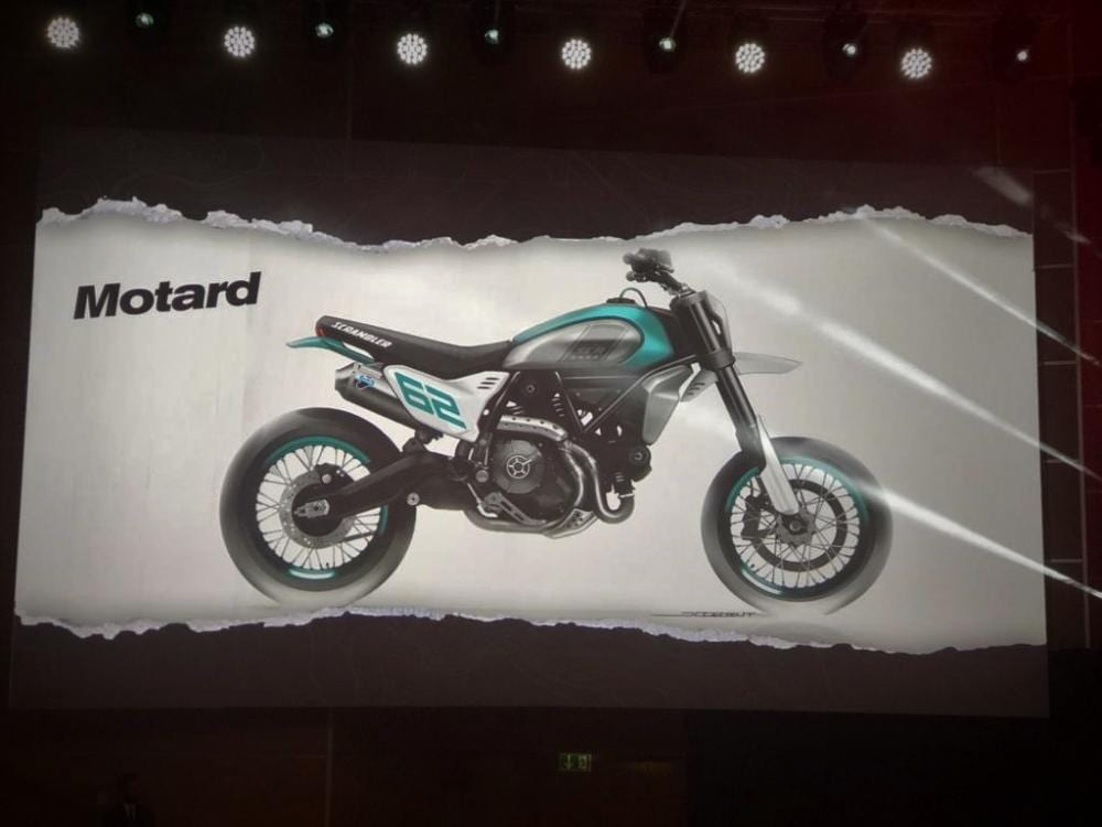And this is the Motard version, this will have the 800cc engine in its chassis.