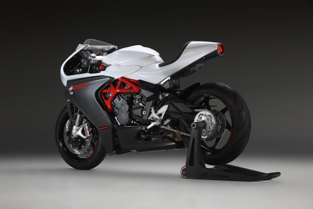 White is another colour that's available on the MV Agusta Superveloce 800 for next year.