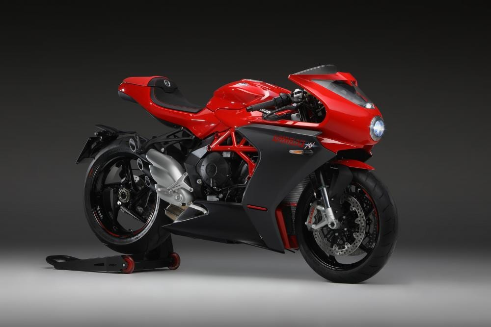 The Superveloce 800 comes in MV Agusta red as a 2020 colour,