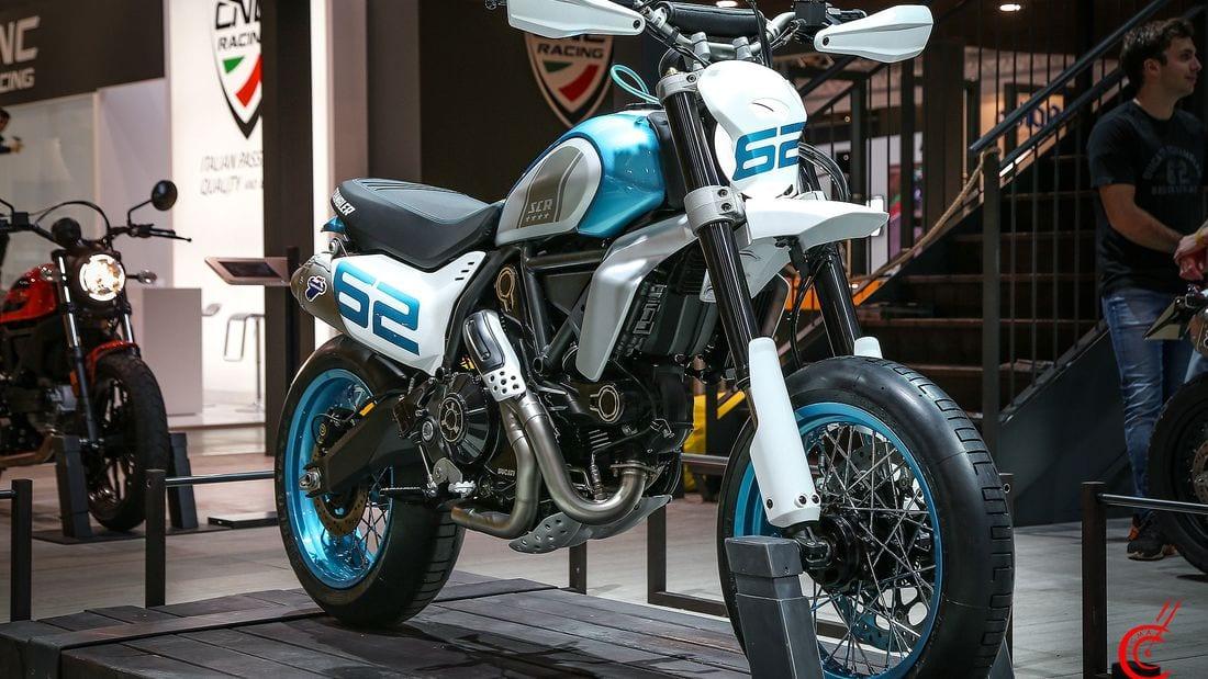 Ducati Scrambler Motard 800 concept. Revealed at EICMA 2019.