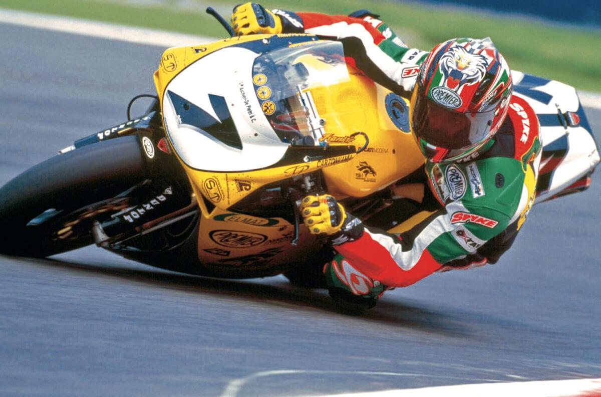 Frankie Chili racing for Ducati in WSB Championship,