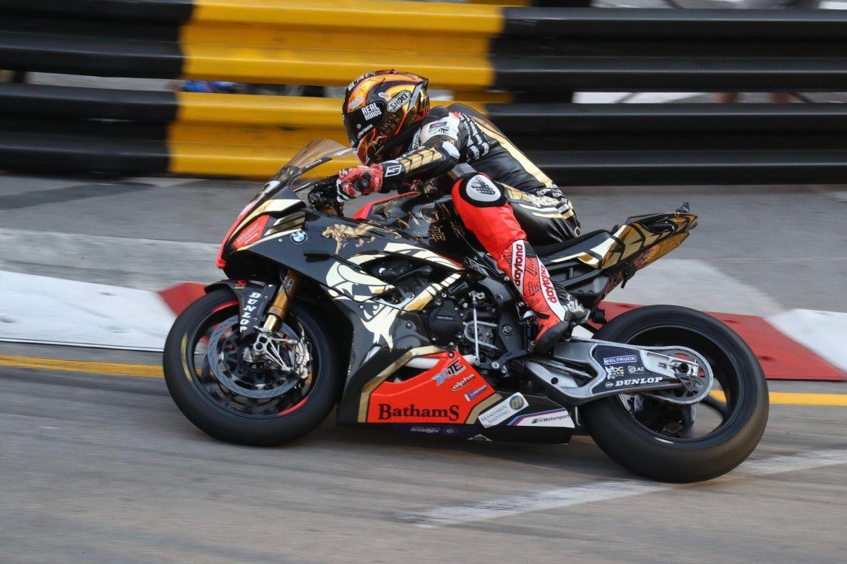 Peter Hickman on the Bathams BMW takes pole position ahead of this weekend's Macau GP.