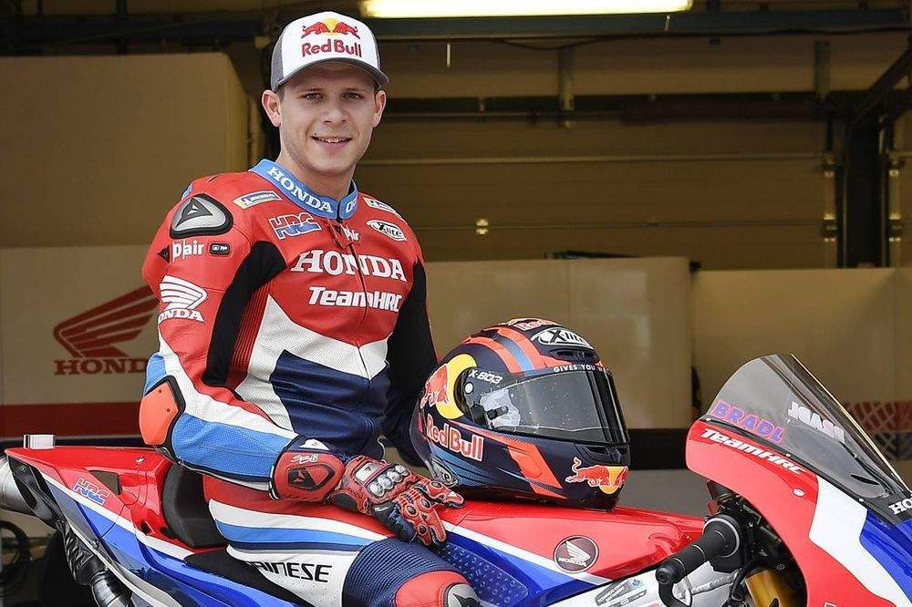 Bradl says that the bike is good on the Pirellis initially and then grip 'changes dramatically'.