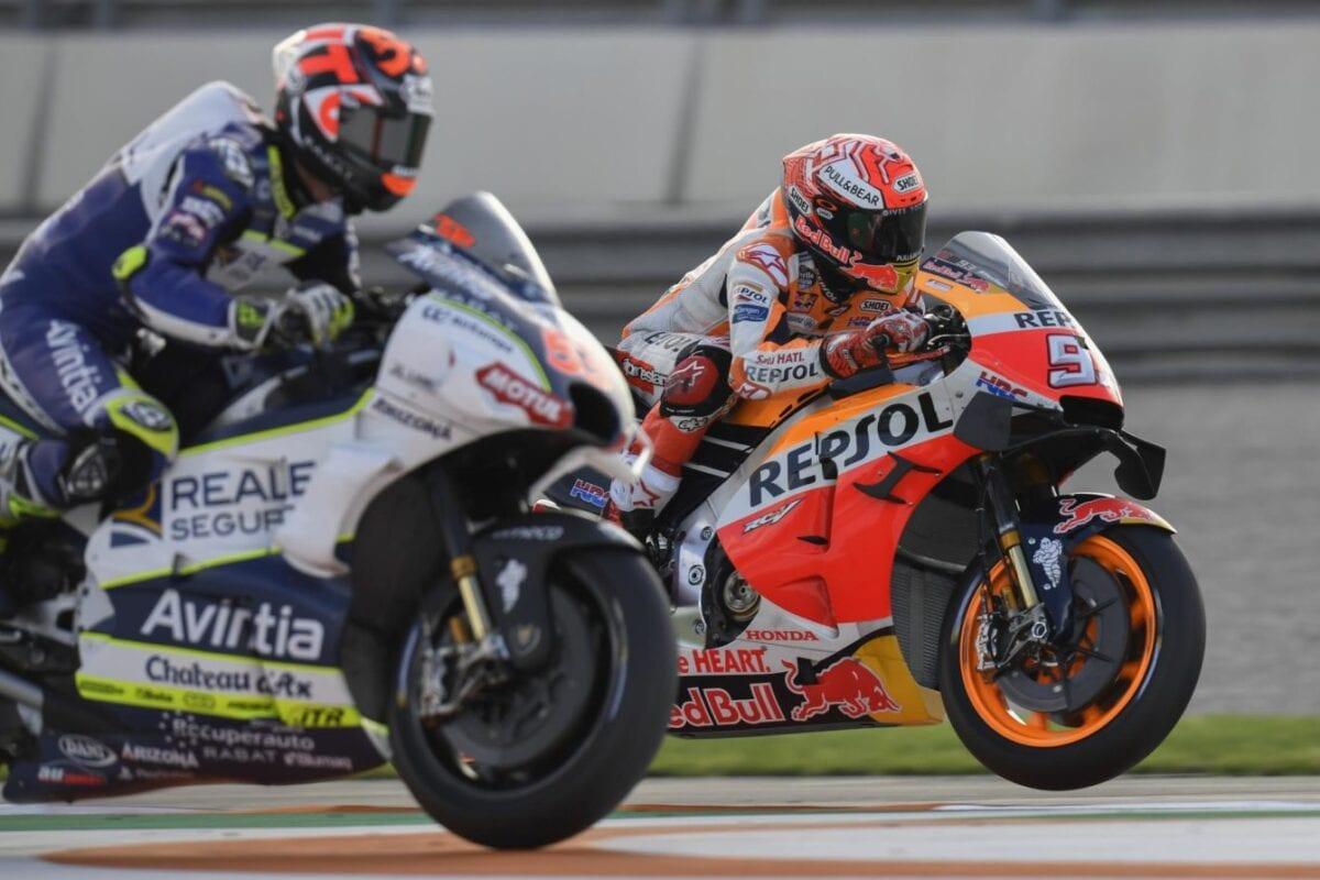 Marquez takes the win at the 2019 Valencia GP.