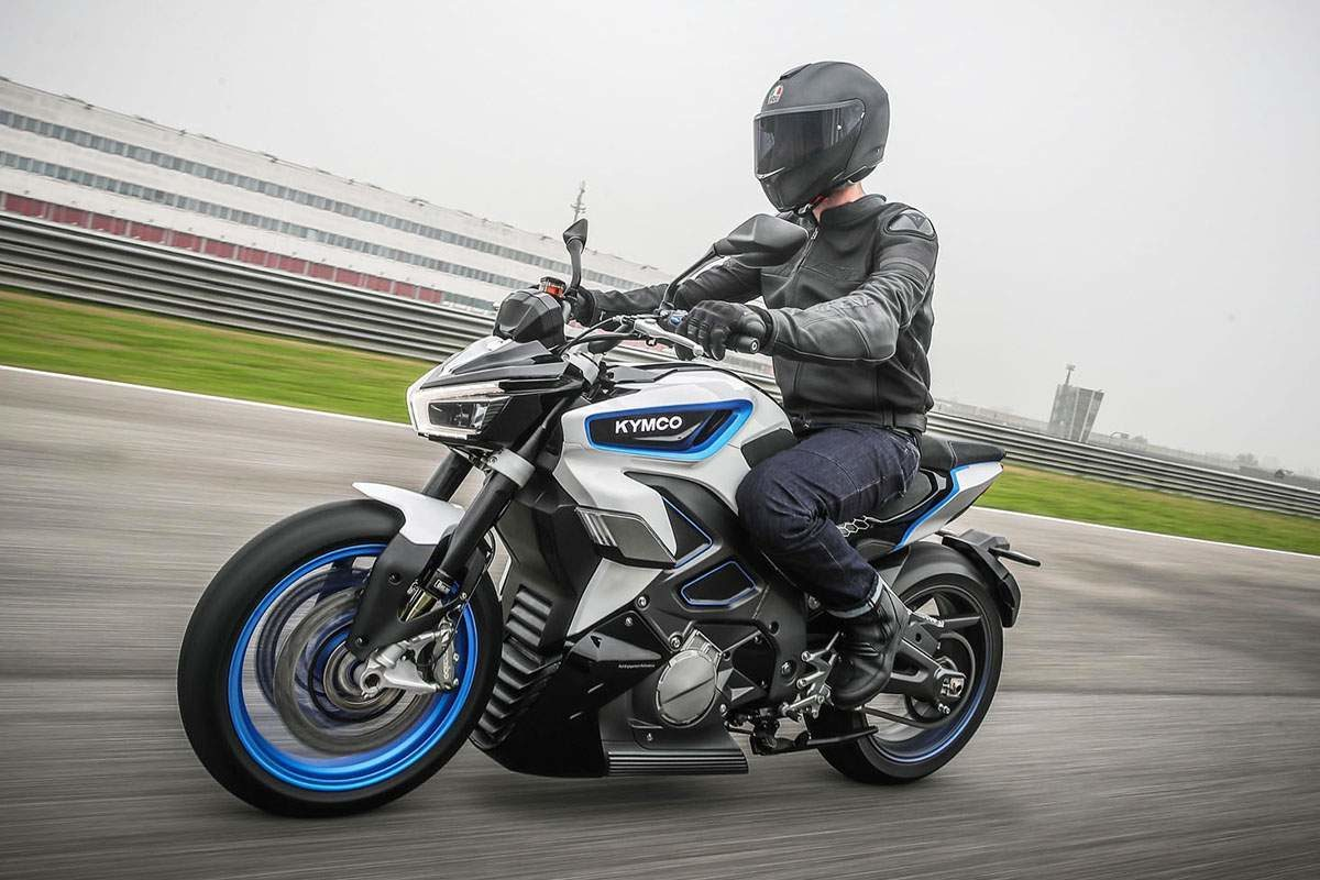 Physically, the KYMCO RevoNEX bike is about the same size as a Ninja 650 from Kawasaki.