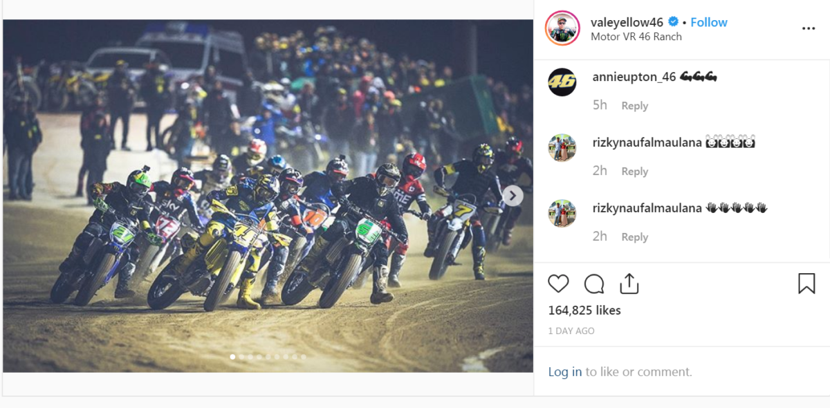 1200 fans turned up to watch the end-of-season fun race at the VR46 ranch.