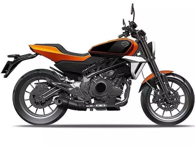 Harley-Davidson HD350 drawing