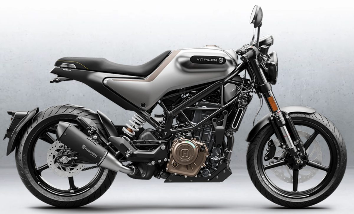 This is the Husqvarna Vitpilen 250. It makes just over 30bhp and comes with cast wheels instead of the bigger version's spoked options. Looks great. Only in India though, for now.